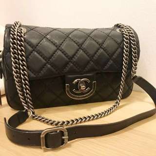 Chanel black flap bag