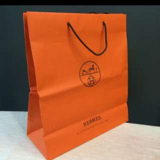 100% Authentic original HERMÉS paper bag L size.