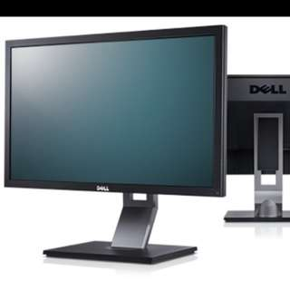 "Dell 24"" LED LCD Monitor + WiFi USB + Keyboard"
