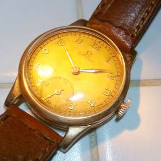 Vintage Omega 9c Gold Watch