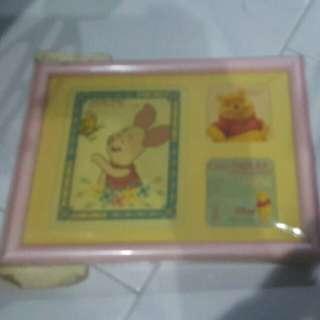 new cross stitch photo frame Disney the pooh piglet