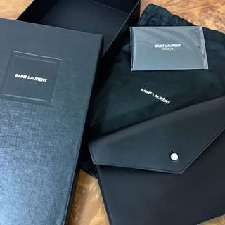 100% new YSL 18SS leather pouch