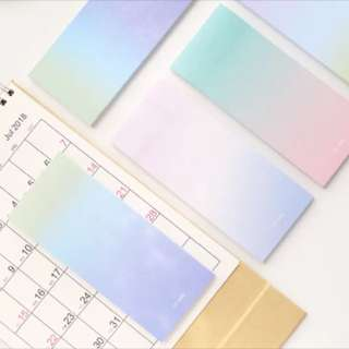 Gradient 40 pcs post it