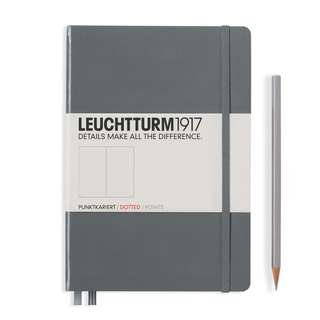 Leuchtturm MEDIUM (A5) HARDCOVER, 249 NUMBERED PAGES, ANTHRACITE RULED/ Dotted (344782)