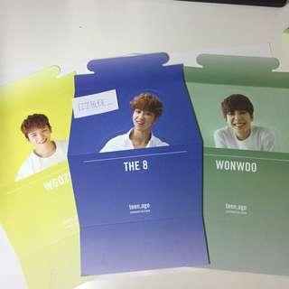 [WTT/WTS] Seventeen Woozi, The8 and Wonwoo Teen Age Standee