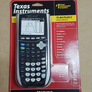 New in Box TI84 TI-84 plus C Silver Edition Texas instruments Math Calculator
