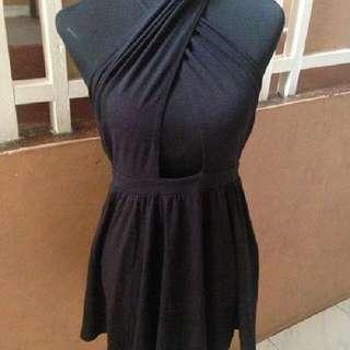 black crisscross dress