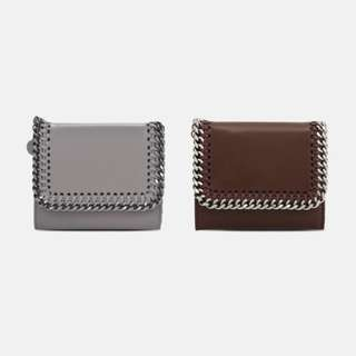 Stella McCartney Taupe Falabella Box Small Flap Wallet