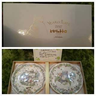 全新2017 龍貓年碟 Totoro yearly plate 宮崎駿 未拆盒