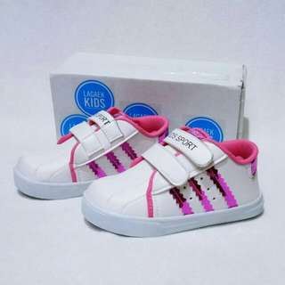 REAL PICTURE SEPATU kets anak pink