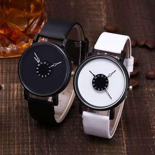 Jam Tangan Quartz Leather Band New Strap Watch