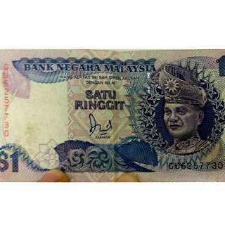$1 and $50 Ringgit Notes