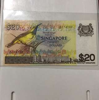 Bird Series 20 Dollar Note
