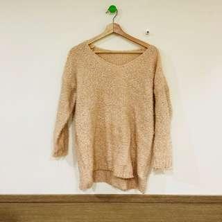 🚚 二手 駝色 針織毛衣