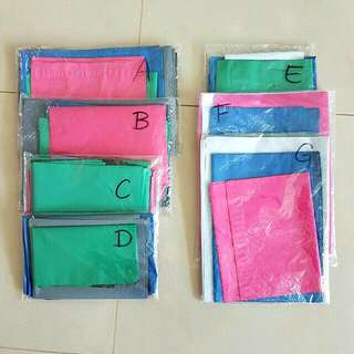 Mixed sizes/colours polymailer packs