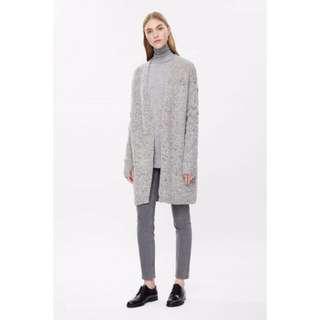 🚚 ❝英國帶回❞🙋🏻 H & M 副牌COS 羊毛針織大衣毛衣長版外套 ZARA &Other Stories 毛呢繭型