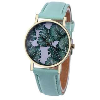 Jam Tangan Leaf Pattern