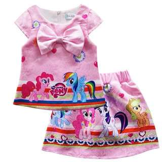 My little Pony 2018 girl's 🍊CNY🍊skirt two piece set with safety pants