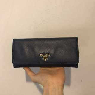 Saffiano Leather Continental Wallet • Prada •