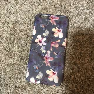 Grey iPhone 6 floral case