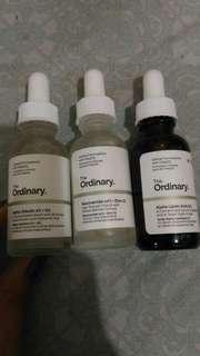 The Ordinary Niacinamide, Alpha Arbutin and Lipoic Acid