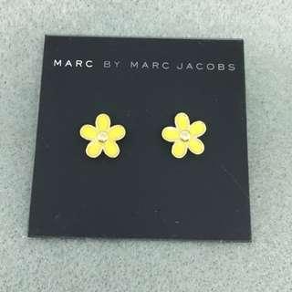 Marc Jacobs Sample Earrings 黃色配金色花花耳環