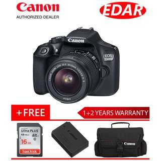 CANON EOS 1300D WITH EF-S 18-55MM IS II (Original Set & Official Canon Malaysia)