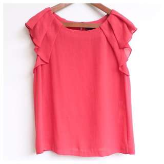Preloved Zara Red Top