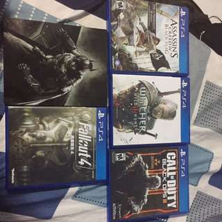 SELLING/TRADING THESE PS4 GAMES