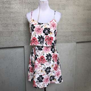 pink florals dress