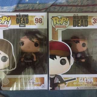 Funko pop TWD glenn and Maggie OG (set)