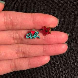 angus b 耳環 一對 75%新 100%真