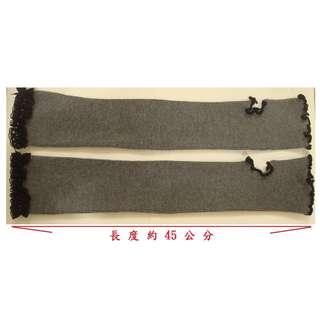 【蔓蔓菲】灰色針織露指袖套/露指手套(請勿殺價)