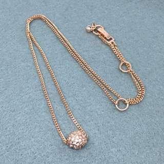 Givenchy Sample Necklace Rose Gold 玫瑰金色閃石波波頸鏈 長度48 cm