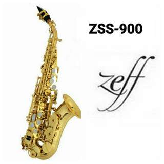 ZEFF SOPRANO SAXOPHONE (France) Standard Style ZSS-900 Curved Gold plated expoxy lacquer
