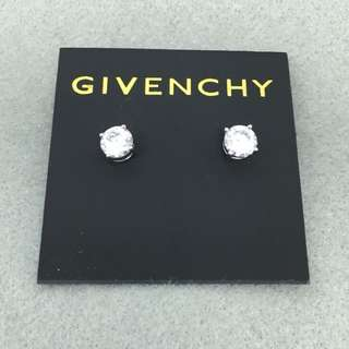 Givenchy Sample Earrings 銀色閃石耳環 直徑0.7 cm