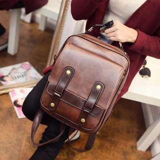 韓系英倫風背包學院風書包手提包l.BAG216