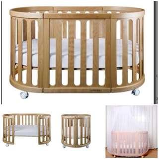 Baby Cot - Gelite Grace 4-1 (beech wood)