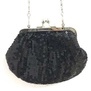 Black party clutch