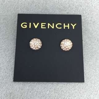 Givenchy Sample Earrings 玫瑰金色閃石波波耳環