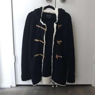 ZARA navy sweater jacket
