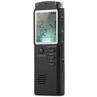 T60 High Fidelity Professional 8GB Time Display Recording Digital Voice Audio Recorder Dictaphone MP3 Player