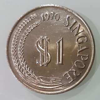 1970 Singapore One Dollar Coin