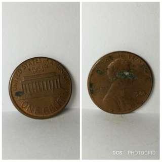 1988  USA 1 cent