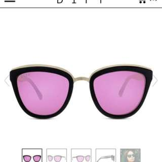 DIFF Polarized pink sunglasses NEW