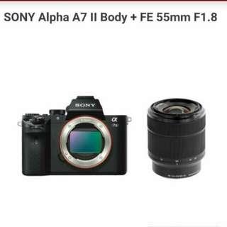 Sony A7 II 55mm kredit anda bisa