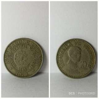 1949 1979 Philippines 10 sentimos