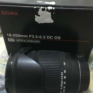 Sigma 18-250mm F3.5-6.3 DC OS for canon
