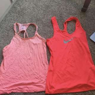 2 pink workout tank tops - NIKE