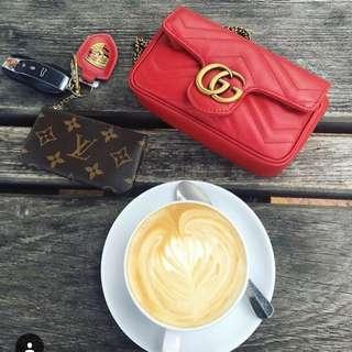 Gucci gg marmont 手袋代購 紅色/ 黑色/ 粉色月